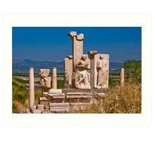 The Pollio Fountain, Ephesus Art Print