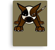 Pit Bully Pup  Canvas Print