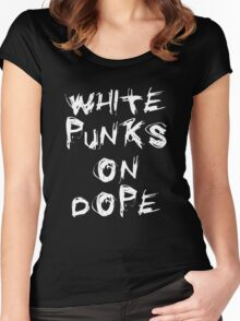 WHITE PUNKS ON DOPE Women's Fitted Scoop T-Shirt