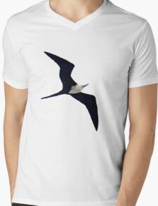 Flying Bird Design Mens V-Neck T-Shirt