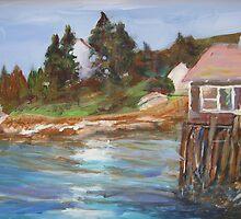 SUMMER HOUSE ON STILTS by paintnpot