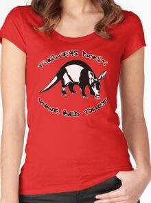 Turkeys Don't Have Bedtimes Women's Fitted Scoop T-Shirt
