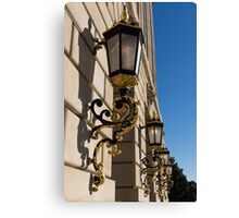 Gilded Lanterns - Washington, DC Facades - Federal Triangle Neighborhood Canvas Print