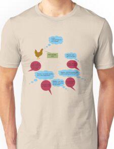 Chicken Blue Little Complex Unisex T-Shirt