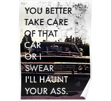 Take Care of that car. Poster