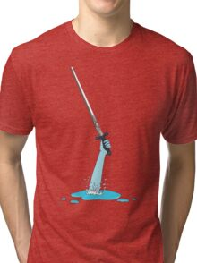 Excalibur and the Lady of the Puddle Tri-blend T-Shirt