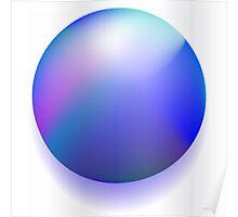 Blue magic ball Poster