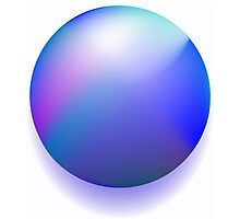 Blue magic ball Photographic Print