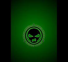 Sookie Designs Sneer Skull Logo Green by Sookiesooker