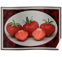 Strawberries. Poster
