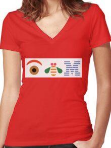 IBM Eye Bee M logo Women's Fitted V-Neck T-Shirt