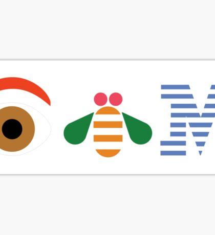 IBM Eye Bee M logo Sticker