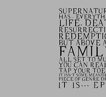 Supernatural is epic. by Midgardian Fangirl