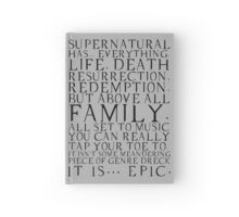 Supernatural is epic. Hardcover Journal