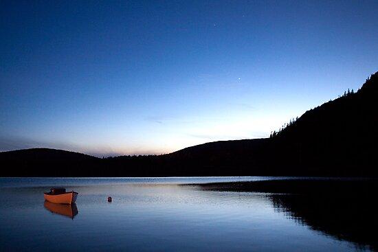 Mercury Adorns Blue Lake by Brian Carey