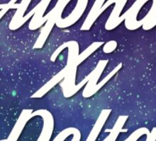 Alpha Xi Delta Galaxy Sticker