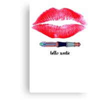 Hello Sweetie! (Inspired by Matt Smiths t-shirt) Canvas Print