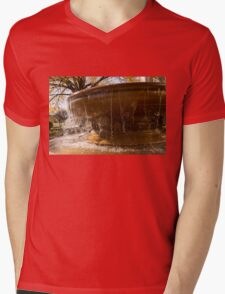 Warm and Wet Autumn Water Play Mens V-Neck T-Shirt