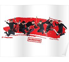 mcbusted red Poster