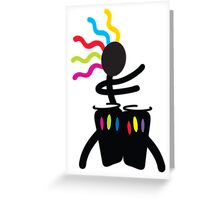 Electric Conga Greeting Card