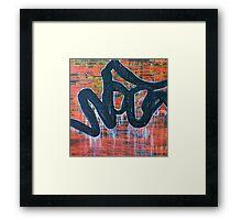 kanji tag Framed Print