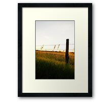 Fencepost in full color in Wakarusa Framed Print
