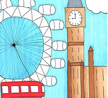 London Drawing by ArtByLivia