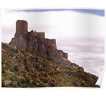 Chateau de Queribus Poster
