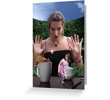 Tea time surprise! Greeting Card