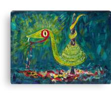 Envy, the Paint Snake  Canvas Print