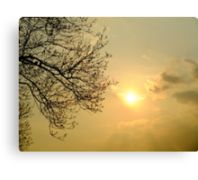 Watching the silky sunset Canvas Print