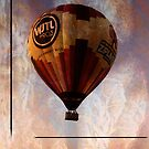Hot Air Balloon Grunge by Russell Fry