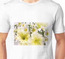 Yellow Petunias And Daisies  Unisex T-Shirt