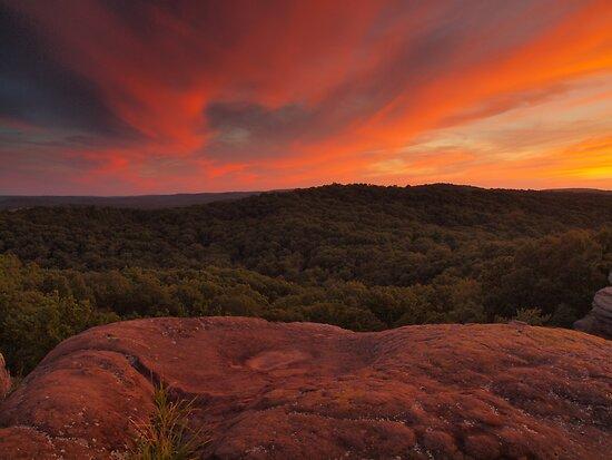 Garden of the Gods Sunset by David Allen