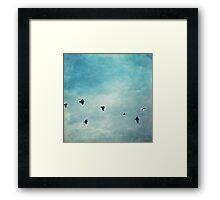 As the ravens fly Framed Print