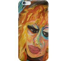 Fashionista in Coral and Blue iPhone Case/Skin
