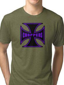 Maltese Cross Purple Tri-blend T-Shirt