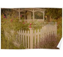 House with the white picket fence # 2 Poster