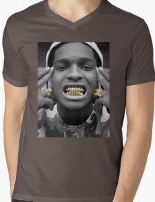 ASAP Rocky Golden Mens V-Neck T-Shirt