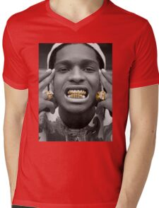 ASAP Rocky Golden Mens V-Neck T-Shirt