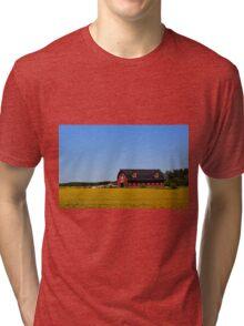 Stylish Red Barn Tri-blend T-Shirt