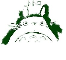 Neighbor Ink Scroll Totoro by WKWF