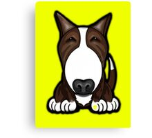 Brown Patch English Bull Terrier Canvas Print