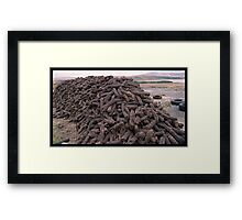Hand-Cut Peat Fuel - Donegal Framed Print