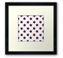 american flag stars background Framed Print