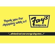 Fay's Drugs | the Immortal Yellow Bag Photographic Print