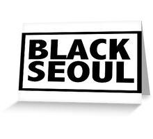 Simply Black Seoul Greeting Card
