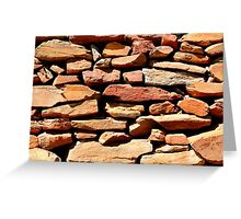 Well placed stonework Greeting Card