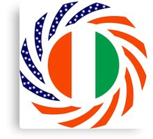 Ivory Coast American Multinational Patriot Flag Series Canvas Print