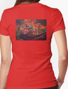 The Tree Bar Sunset 1770 Womens Fitted T-Shirt